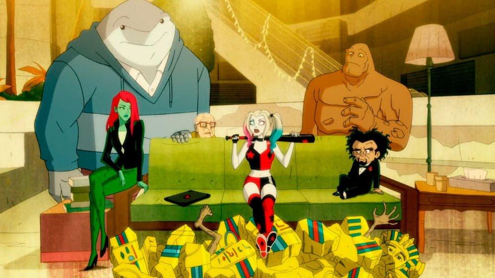 Poison Ivy y Harley Quinn sentadas