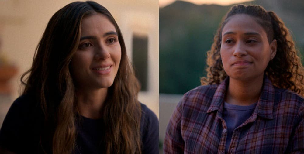 Dani y Sophie intercambian sonrisas tristes