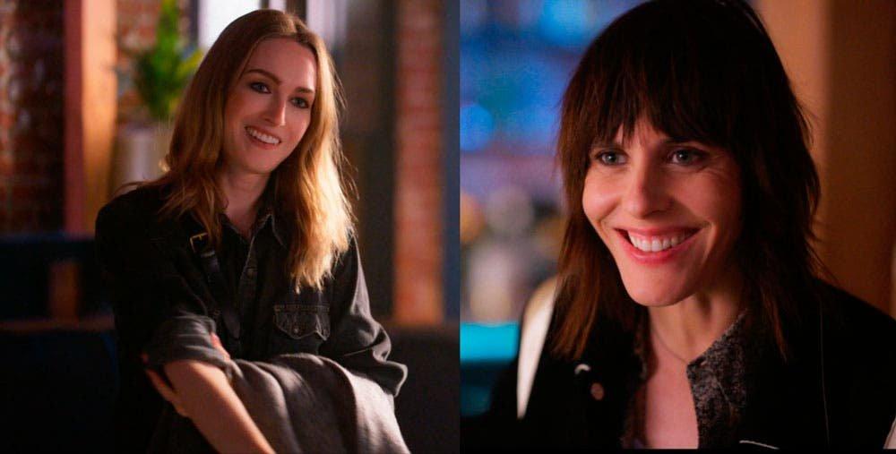 Tess y Shane sonriendo