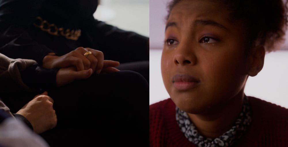 Angie llorando
