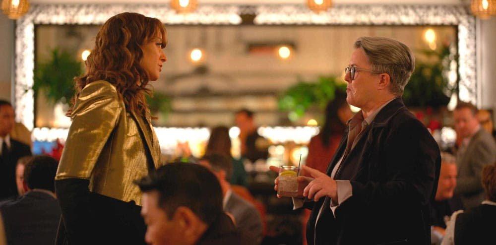 Bette y Carrie discutiendo en la fiesta